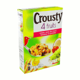 cereales crousty aux 4 fruits auchan 500g