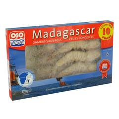 Gambas sauvages crues de Madagascar