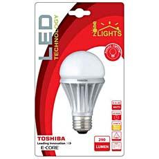 Ampoule LED E-Core 35 Homelights TOSHIBA, 5,5W E27, blanc chaud