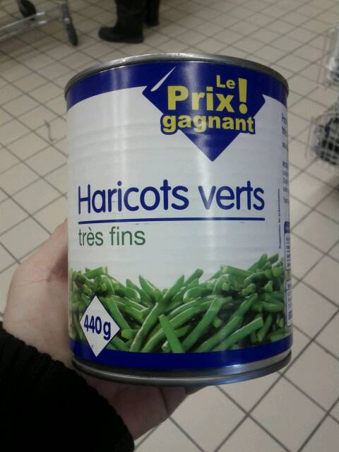 Haricots verts extra fin 440g