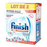 Finish tout en 1 power&pure 2x42 tablettes