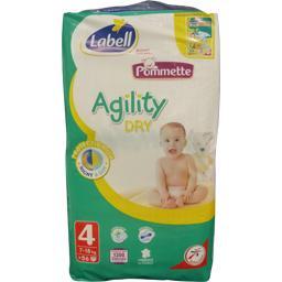 Pommette Couches Agility Dry Taille 4 7 18 Kg Le Paquet De 56
