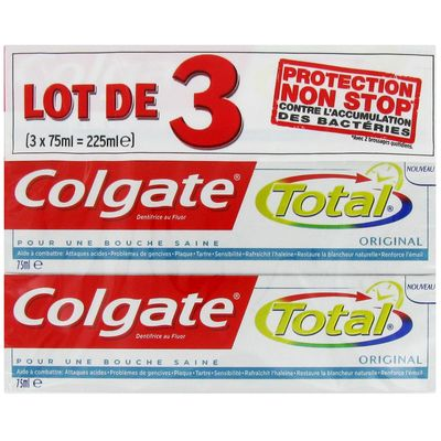 Dentifrice Colgate Total Original 3x75ml