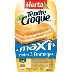 Herta tendre croque maxi 3fromages 300g
