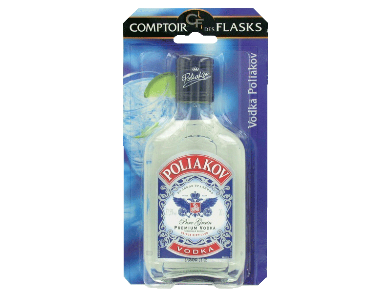 Vodka Poliakov 37.5%vol. Flask sous blister 20cl