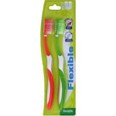 Brosses a dents flexibles U, souple, 2 unites