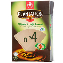 Filtre cafe n°4 Plantation Bruns x80