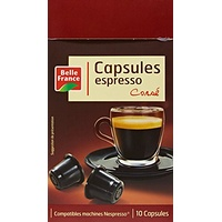 Belle France Set de 10 Capsules Expresso Corsé 52 g - Lot de 5
