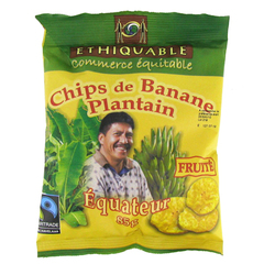 Chips de banane plantain fruite