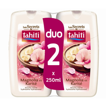 Tahiti secret gel douche magnolia duo 2x250ml