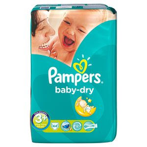 Couches Pampers Baby Dry Géant T3 + x44