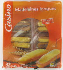Madeleines Longues aux oeufs
