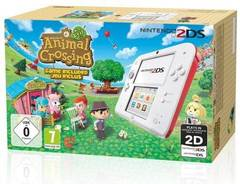 PACK CONSOLE NINTENDO 2DS BLANC + ROUGE AVEC ANIMAL CROSSING NEW LEAF
