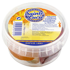 Fruits confits assortis SAINTE LUCIE, 150g