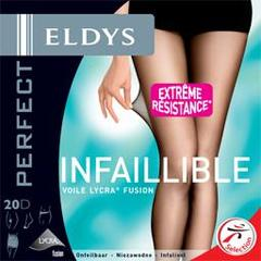 Eldys, Collant perfect infaillible noir voile lycra 20D - T2, l'unite