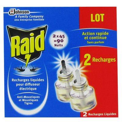 rechage pour diffuseur electrique anti moustiques raid 2x45nuits tous les produits. Black Bedroom Furniture Sets. Home Design Ideas