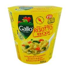 risotto box legumes & fromages gallo 325g