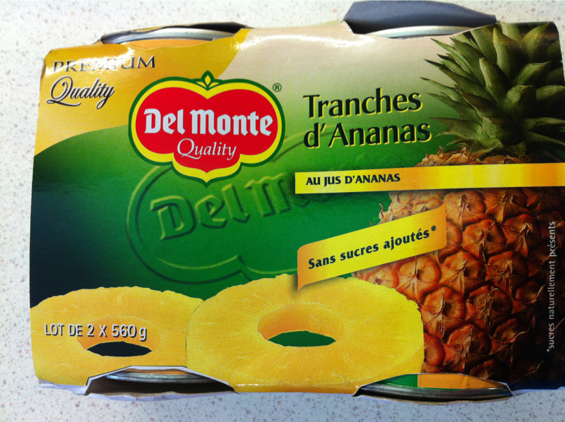 Tranches d'ananas