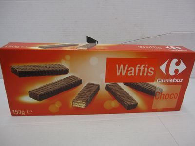 Biscuits fourrage cacao maigre, Waffis