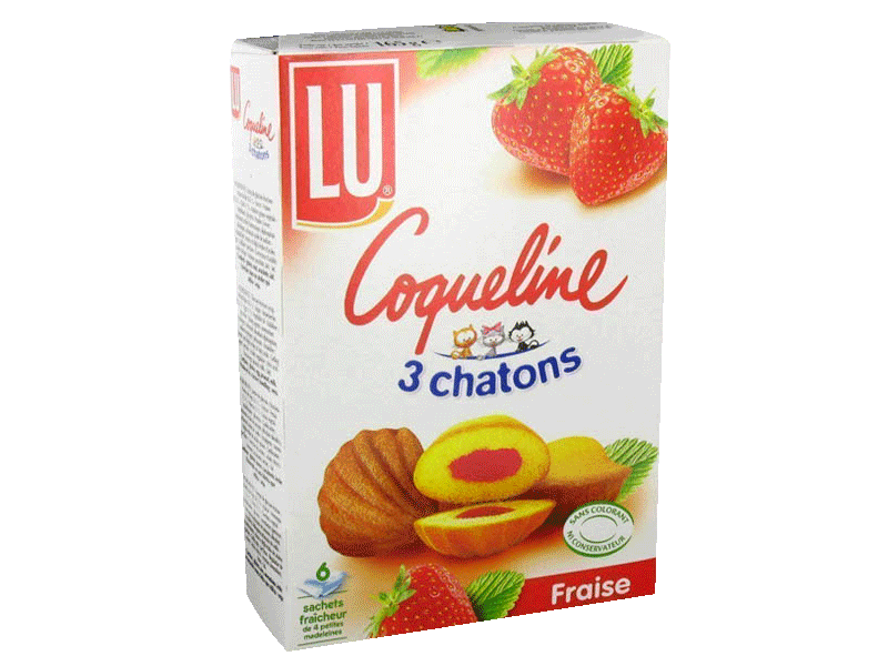 Coquelines fraise 3 chatons