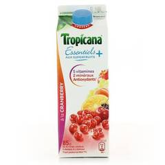 Tropicana Essentiels + a la Cranberry