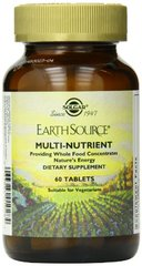 SOLGAR Earth Source - 60 tablets Multi nutriments
