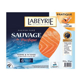 saumon fume sauvage 6 tranches labeyrie 180g