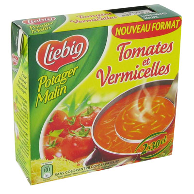 Potager Malin Liebig Tomate vermicelles 2x30cl