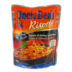 Risotto Express 2mn a la tomate et herbes Italiennes UNCLE BEN'S, 250g