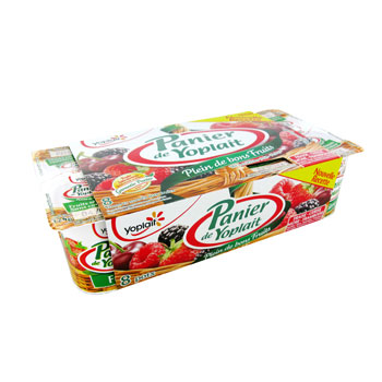 YAOURTS AUX FRUITS PANIER STANDARD FRUITS ROUGES 125GX8