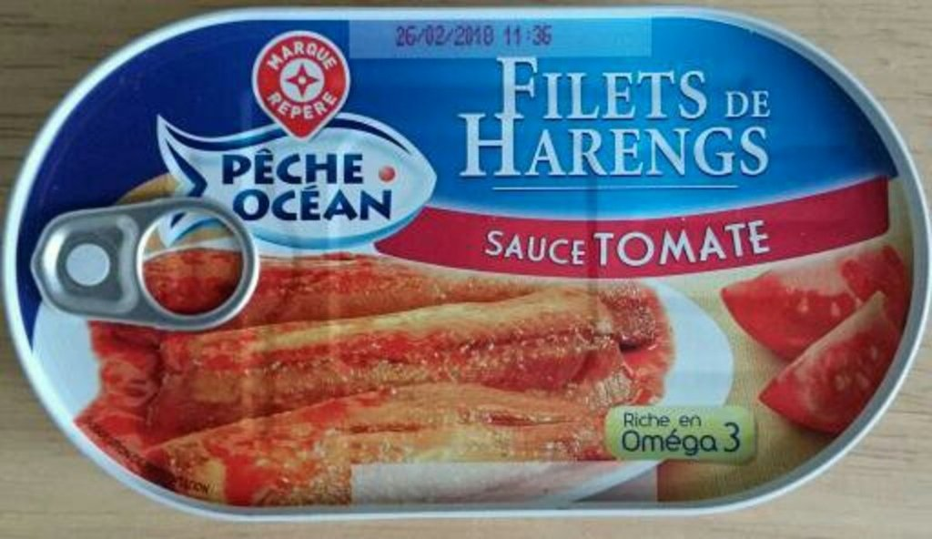 Filets harengs Pêche Océan Sauce tomate 190g