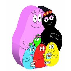 9 puzzles barbapapa decoupes - 52 pieces