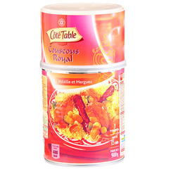 Couscous royal Cote Table Volaille et merguez 980g