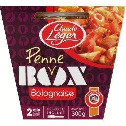 Box Penne Bolognaise, la box de 300g + fourchette