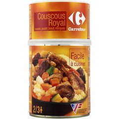 Couscous royal mouton, poulet, boeuf, merguez