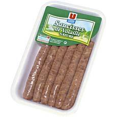 Saucisses de volaille U, 6 pieces, 300g