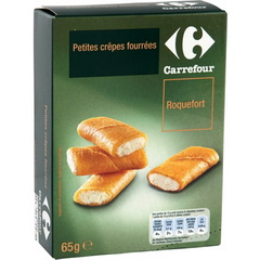 Petites crepes fourrees, roquefort