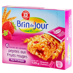 Barres de cereales brin de Jour Fruits rouges 125g