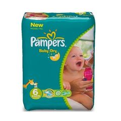 Pampers - Baby Dry - Couches Taille 6 (13-18 kg) - (x124 couches)