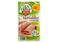 Mortadelice Isla Delice Volaille boeuf olives 120g