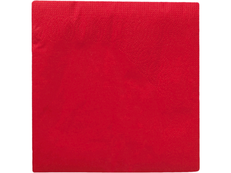 50 Serviettes de table rouge Double epaisseur - Dimension 33x33cm