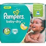 Pampers Couches baby-dry taille 5 + (junior + ) 13-25 kg Le paquet de 35