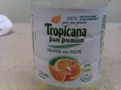 Tropicana Jus d'Orange avec Pulpe Pure Premium 25 cl