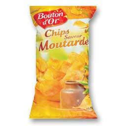 Chips saveur moutarde, le paquet de 150g