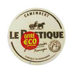 Camembert ! 20% de MG, a base de lait pasteurise.Origine: France. Lieu de transformation: Normandie.