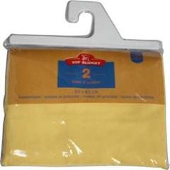 Top Budget, Taies d'oreiller 63x63 jaune, le lot de 2