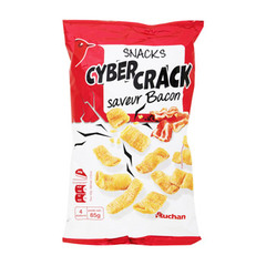 snacks cyber crack saveur bacon auchan 85g
