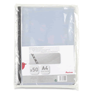 pochettes perforees a4 cristal resistant x50 auchan