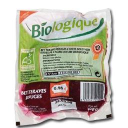 Betteraves rouges CUITES BIO, le sachet de 500 Gr