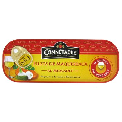 Filets de maquereaux Connetable Muscadet 176g